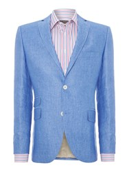 Corsivo Giona Ticket Pocket Linen Blazer Light Blue
