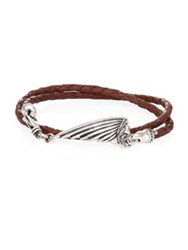 King Baby Studio Sterling Silver And Leather Bracelet Brown