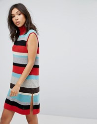 Boss Orange Stripe Knit Dress Miscellaneous Multi