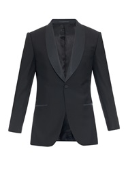 Gieves And Hawkes Shawl Collar Wool And Mohair Blend Blazer