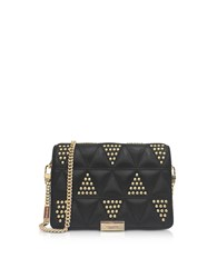 Michael Kors Handbags Jade Studded Quilted Leather Clutch