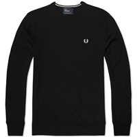 Fred Perry Classic Crew Neck Sweater Black