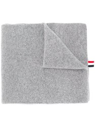 Thom Browne Ribbed Cashmere Scarf Grey