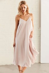Silence And Noise Stacy Banded Midi Dress Rose