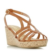 e2a5360a567c Head Over Heels Kimmi Strappy Wedge Sandals Tan