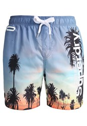 Superdry Swimming Shorts Ocean Palms Blue