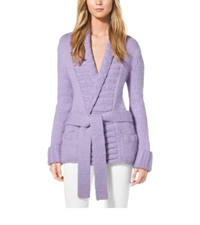 Michael Kors Shawl Collar Cashmere And Wool Sweater Thistle