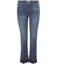Frame Le Crop Mini Boot Jeans With Released Hem Blue