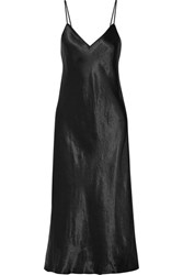 Vince Satin Midi Dress Black