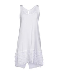 Brebis Noir Short Dresses White
