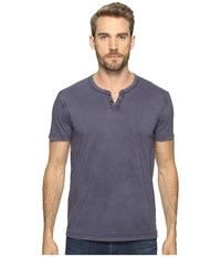 Lucky Brand Button Notch Tee American Navy Men's T Shirt