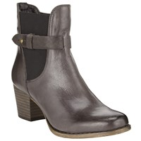 John Lewis Helen Western Style Leather Boots Grey