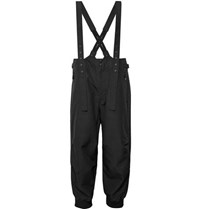 Y 3 Grosgrain Trimmed Cotton And Nylon Blend Overalls Black