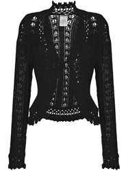 Chanel Vintage Embroidered Fitted Cardigan Black
