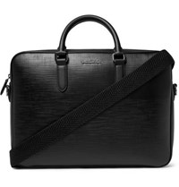 Ermenegildo Zegna Textured Leather Briefcase Black