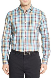 Men's Bobby Jones 'Terminus' Regular Fit Long Sleeve Plaid Sport Shirt Light Blue