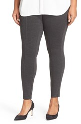 Halogenr Plus Size Women's Halogen Seamed Leggings Grey Dark Charcoal Heather