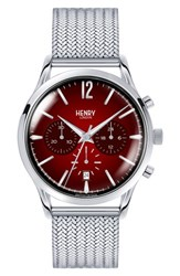 Henry London Chancery Chronological Mesh Strap Watch 41Mm