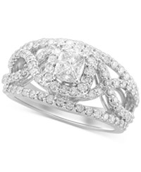 Macy's Diamond Cushion Engagement Ring 1 1 3 Ct. T.W. In 14K White Gold