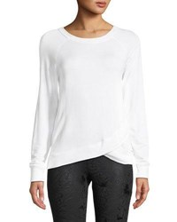 The Balance Collection Karma Faux Wrapped Tee White