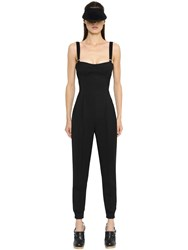 Max Mara Stretch Cool Wool And Silk Crepe Jumpsuit