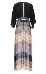 Jaline Kate Raglan Sleeve Maxi Dress Black