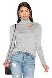 525 America Cut Out Sweater Gray