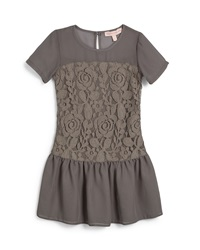 Appaman Mary Chiffon And Lace Combo Dress Gray Size 7 14