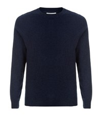 Derek Rose Finley Cashmere Jumper Male Navy
