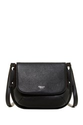 Perlina Flurry Flap Saddle Crossbody Black
