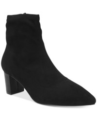 Tahari Roman Pointed Toe Ankle Booties Women's Shoes Black