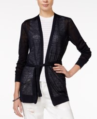 Armani Exchange Lightweight Belted Cardigan A Macy's Exclusive Navy