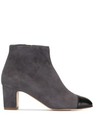 Rupert Sanderson Storm Leather Capped Suede Ankle Boot Grey
