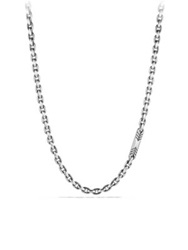 David Yurman Exotic Stone Sterling Silver Chain Link Necklace