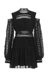 Acler Barton Full Sleeve Mini Dress Black