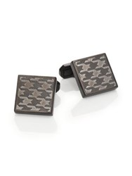 Saks Fifth Avenue Etched Houndstooth Square Cuff Links