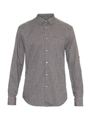 John Varvatos Micro Checked Long Sleeved Cotton Shirt