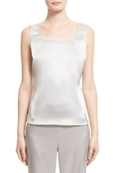 Women's St. John Collection Liquid Satin Tank Platinum