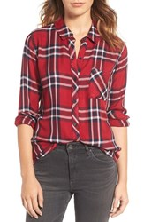 Rails Women's Hunter Button Down Plaid Shirt