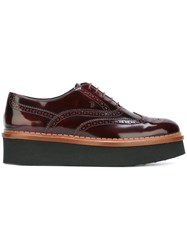 Tod's Platform Brogues Red