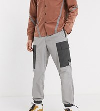 Reclaimed Vintage Cut And Sew Cargo Trousers In Reflective Silver