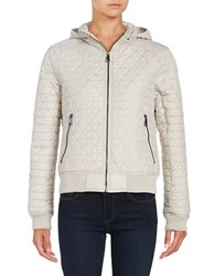 Andrew Marc New York Zip Out Hood Quilted Coat Fog