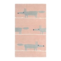 Scion Mr Fox Rug Blush Pink
