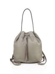 Elizabeth And James Finley Sling Leather Bucket Bag Dove Grey Black