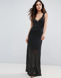 Wyldr Celeste Sands Mesh Maxi Dress With Seperate Slip Silver
