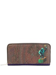 Etro Gorilla Print Wallet Brown