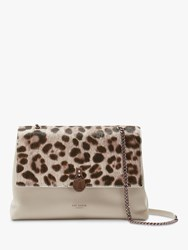 Ted Baker Cliarra Leather Padlock Shoulder Bag Taupe