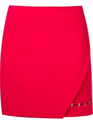Giuliana Romanno Wrap Mini Skirt Pink And Purple