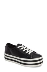 Steve Madden Women's Rainbow Stacked Platform Sneaker Black