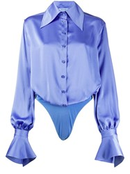 Thierry Mugler Pointed Collar Long Sleeve Shirt 60
